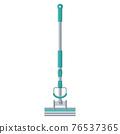 Cartoon vector illustration housework equipment tool mop 76537365