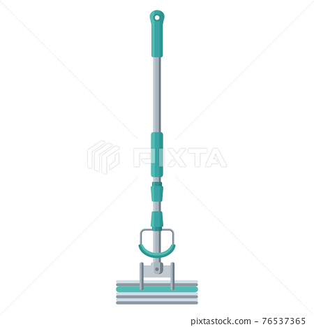 Cartoon vector illustration housework equipment tool mop 76537365