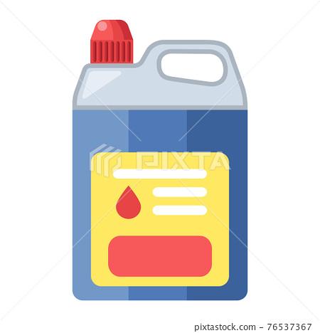 Cartoon vector illustration housework equipment tool disinfectant liquid bottle 76537367