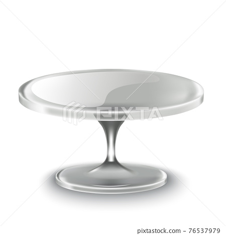 realistic vector cake stand in glass 76537979