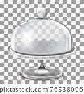 Cake stand with glass cover dome ill 76538006