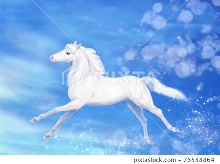 white horse, unrefined sake, equine 76538864