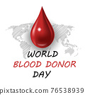 World blood donor day card Vect ill 76538939