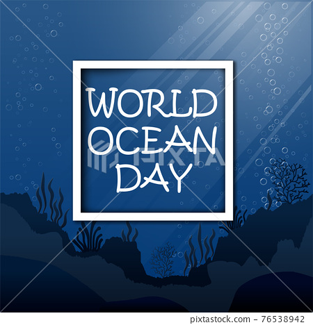 World Oceans Day June 8 Vector ill 76538942