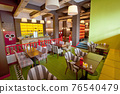 Colorful interior of stylish cozy color cafe 76540479