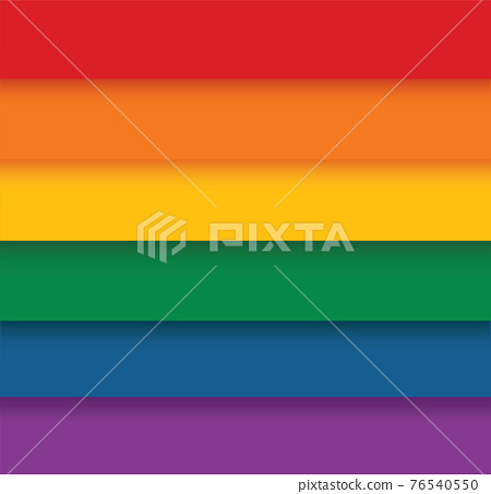 Rainbow flag movement lgbt, flat icon. Symbol of sexual minorities, gays and lesbians. vector illustration  76540550