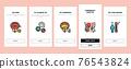 Prostatitis Disease Onboarding Icons Set Vector 76543824