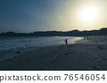 黃昏 海灘 沙灘 76546054