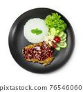 Crispy Chicken Korean Sauce with Rice 76546060