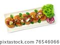 Canned Fish Mackerel Deep Fried Spicy Salad Thai Food 76546066