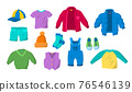 Cartoon Color Clothes Boys Icon Set. Vector 76546139