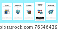 Digital Nomad Worker Onboarding Icons Set Vector 76546439