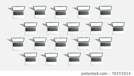 Many Laptop computers with shadow 76555914