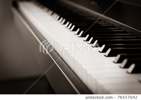 Abstract blur background. Piano key. Music instrument. 76557042