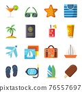 Travel icons set isolate on white 76557697