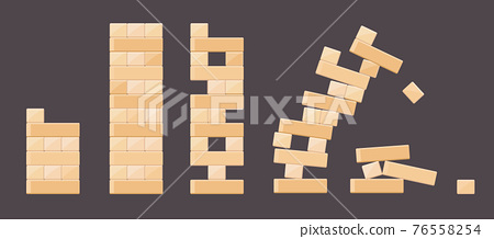 Wood bricks details from tower games for kids 76558254