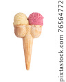 Hand holding an ice cream cone 76564772