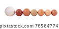 eggs of various sizes and colors 76564774