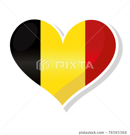 Flag of Belgium in heart shaped 76565368