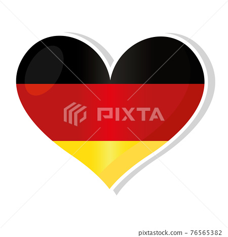 Flag of Germany in heart shaped 76565382