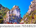 Shonankyo風景在山梨,色的葉子科福市季節 76568020