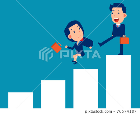 Fighting and competition. Business person punish partnershi 76574187