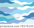 wave, japanese pattern, sum 76576105