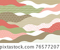 wave, japanese pattern, sum 76577207