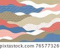 wave, japanese pattern, sum 76577326