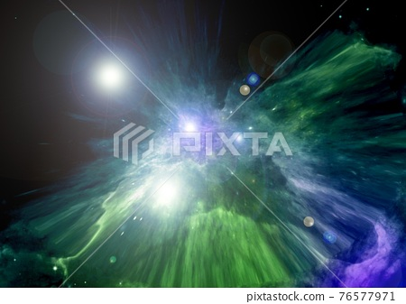 galaxy in a free space. 3D rendering 76577971