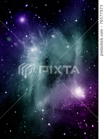 galaxy in a free space. 3D rendering 76577973