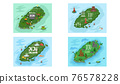 Welcome to Jeju island in South Korea, traditional landmarks, symbols. Korean land with traditional attractions 76578228