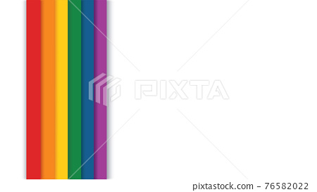 rainbow on a white background vector illustration  76582022
