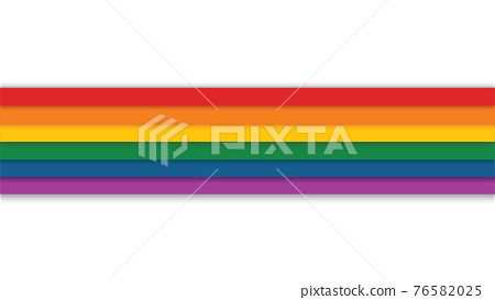rainbow on a white background vector illustration  76582025