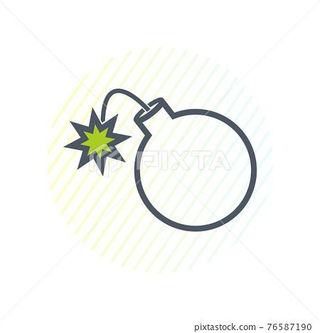 Bomb Line Icon. Editable Vector EPS Symbol Illustration. 76587190