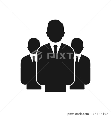 Business People group icon. Editable Vector EPS Symbol Illustration. 76587192