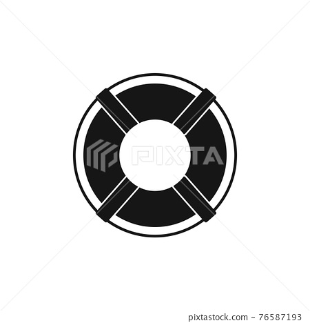 Buoy ring icon. Flat style vector EPS. 76587193