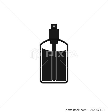Body Perfume spray icon. Editable Vector EPS Symbol Illustration. 76587198