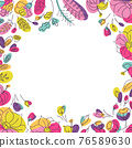 Floral background for social network post with 76589630