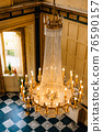 Large crystal chandelier with candles, top view. 76590157