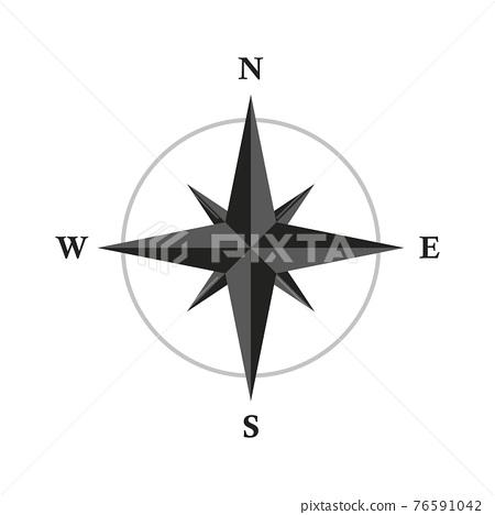 basic compass wind rose isolated on white background 76591042