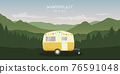 wanderlust camping adventure in the wilderness with camper 76591048