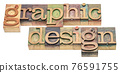 graphic design word abstract in wood type 76591755