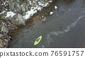inflatable whitewater kayak aerial view 76591757