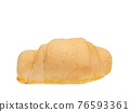 Shio Pan, a close up of Japanese homemade croissant salty butter bread bun isolated on white background. 76593361