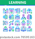 Machine Learning Ai Collection Icons Set Vector 76595163