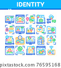 Digital Identity User Collection Icons Set Vector 76595168