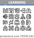 Machine Learning Ai Collection Icons Set Vector 76595182