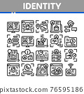 Digital Identity User Collection Icons Set Vector 76595186
