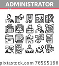 Administrator Business Collection Icons Set Vector Illustrations 76595196